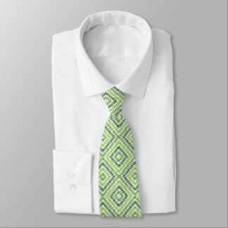 Green Zig Zag Tie