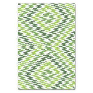 Green Zig Zag Tissue Paper