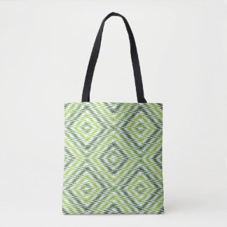 Green Zig Zag Tote Bag