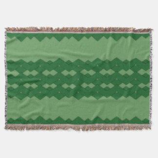 Green Zigzag Comfy Throw
