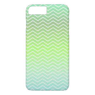 Green zigzag pattern iPhone 7 plus case