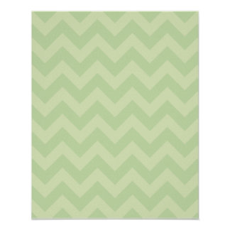 Green ZigZag pattern Poster