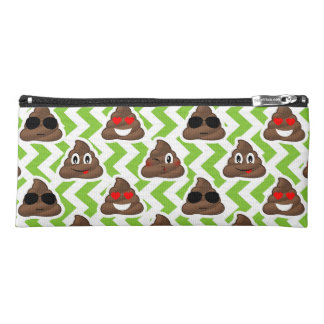 Green ZigZag Poop Pattern Emojis Pencil Case