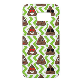 Green ZigZag Poop Pattern Emojis Samsung Galaxy S7 Case