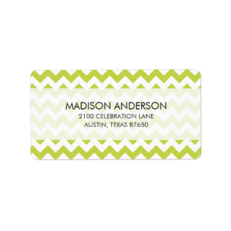 Green Zigzag Stripes Chevron Pattern
