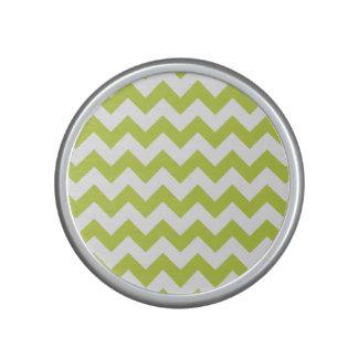 Green Zigzag Stripes Chevron Pattern Bluetooth Speaker