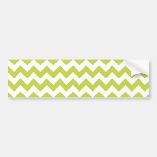 Green Zigzag Stripes Chevron Pattern Bumper Sticker