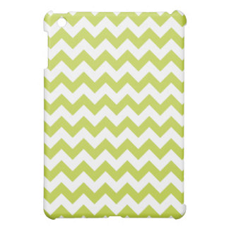 Green Zigzag Stripes Chevron Pattern Case For The iPad Mini
