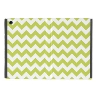 Green Zigzag Stripes Chevron Pattern Covers For iPad Mini