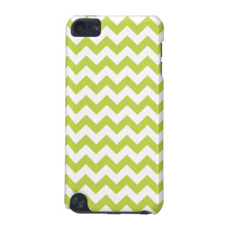 Green Zigzag Stripes Chevron Pattern iPod Touch (5th Generation) Cases