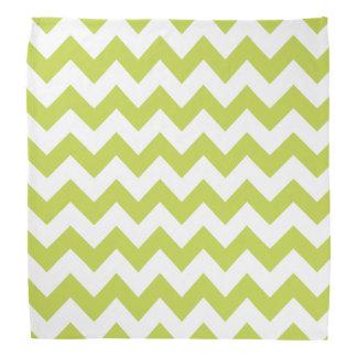 Green Zigzag Stripes Chevron Pattern Kerchief