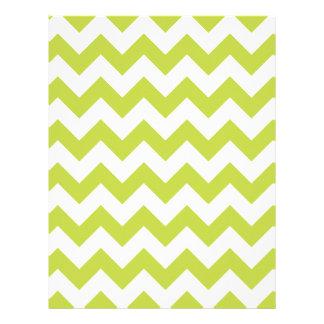 Green Zigzag Stripes Chevron Pattern Letterhead