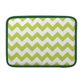 Green Zigzag Stripes Chevron Pattern MacBook Air Sleeves
