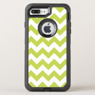 Green Zigzag Stripes Chevron Pattern OtterBox Defender iPhone 8 Plus/7 Plus Case