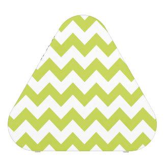 Green Zigzag Stripes Chevron Pattern Speaker