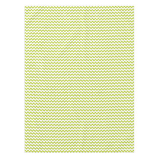 Green Zigzag Stripes Chevron Pattern Tablecloth