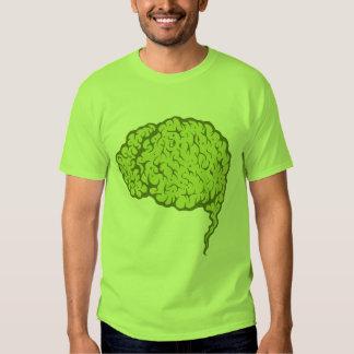 Green Zombie Brain T-shirt - Braaaains!