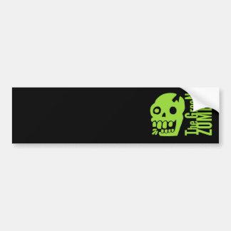 Green zombie bumper sticker