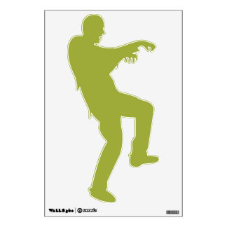 GREEN  ZOMBIE SILHOUETTE WALL DECAL