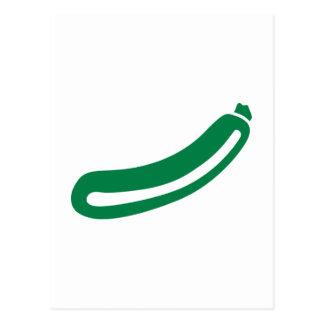 Green zucchini postcard