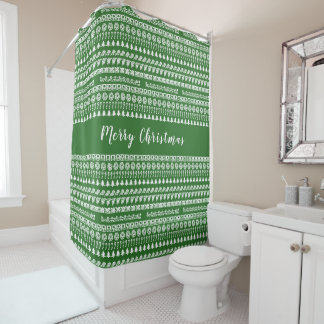 Greenand White Rows Christmas Picture Font Pattern