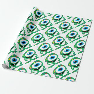 Greendot-Monster Wrapping Paper
