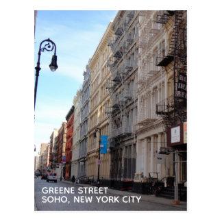 Greene Street SoHo Architecture New York City NYC Postcard