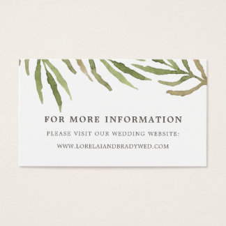 Greenery | Botanical Wedding Website Cards