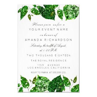 Greenery Cali Green Glitter Woodland Ivy Leafs Eve Card