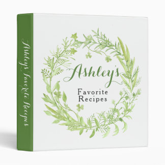 Greenery Clover Floral Wreath Recipe Binder