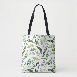 Greenery Floral Green Branch Tote Bag