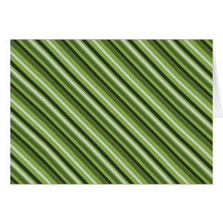 Greenery Green Horizontal Stripes Pattern Elegant Card