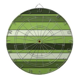 Greenery Green Horizontal Stripes Pattern Elegant Dartboard