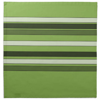 Greenery Green Horizontal Stripes Pattern Elegant Napkin