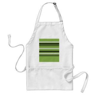 Greenery Green Horizontal Stripes Pattern Elegant Standard Apron