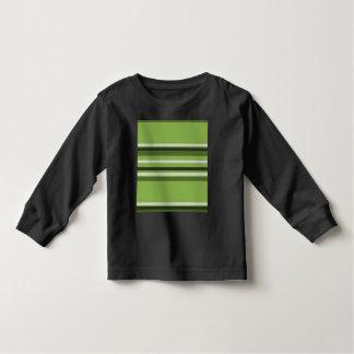 Greenery Green Horizontal Stripes Pattern Elegant Toddler T-shirt