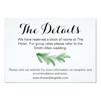Greenery Laurel Wreath Details Card