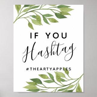 greenery leaf foliage social media wedding/party poster