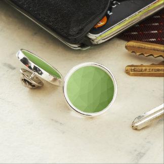 Greenery ombre gradient geometric mesh lapel pin