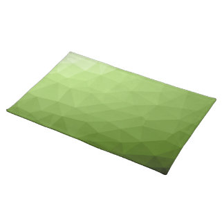 Greenery ombre gradient geometric mesh placemat