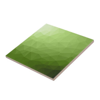 Greenery ombre gradient geometric mesh tile