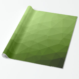 Greenery ombre gradient geometric mesh wrapping paper
