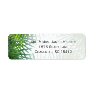 Greenery Palm Fronds Return Address