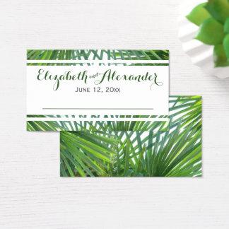 Greenery Palm Wedding Place Cards
