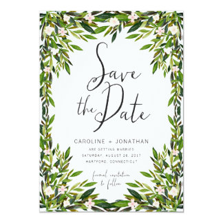 "Greenery Save the Date Card 5"" X 7"" Invitation Card"