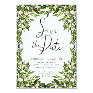 "Greenery Save the Date Card 5"" X 7"" Invitation Card"