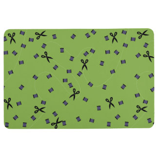 Greenery Sewing Notions Floor Mat