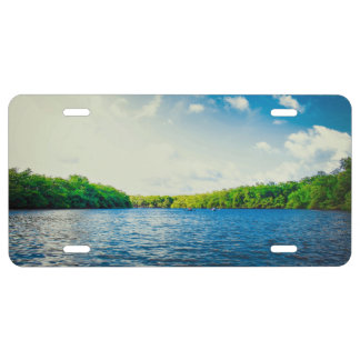 Greenery Themed, Green And Dense Forest Area Aroun License Plate