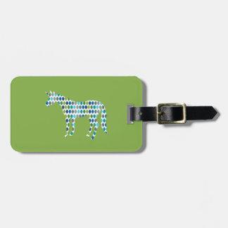 Greenery Unicorn Luggage Tag