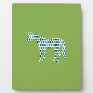 Greenery Unicorn Plaque